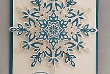 Stampin' Up! Festive Flurry / Project ideas using Stampin' Up's Festive Flurry stamp set and matching framelit cutting dies.