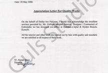 Appriciation Letters. / We ranked ourselves as one of the leading company providing One Stop Solution in Event Management and Exhibition services In Pakistan.  We are approaching you good self to provide us a chance to be an Event Manager for your upcoming events . We assure you that we will provide a turnkey solution/ services to conduct a high Profile, thematic and memorable events