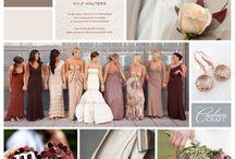 boda marsala / paleta de color para boda 2015