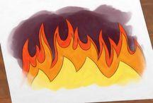 vuur tekenen