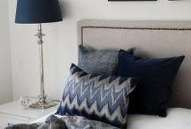 Sovrum / Bedroom / Sovrum, kuddar, plädar, belysning. Inspirational board for bedroom, bedding.