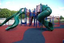 Surfacing / Playground surfacing can be the perfect final touch with colorful and custom options available. Make your playground stand out with vivid colors, custom designs, increased accessibility, safety, and durability.