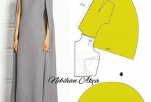 Cape dress pattern