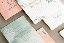 Bryllupsinvitasjoner / bordkort