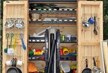 Preschool Outdoor Loose Part Storage