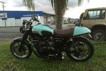 My 2009 Triumph Bonneville / Customised: New paint with custom decals, shocks,LED lights and exhaust
