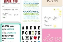 Printables / I love printables! / by Tiara Brown