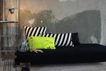 // black sofa //