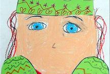 portret cu manusi
