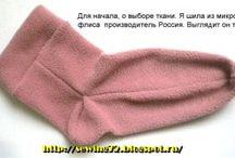 носки из флиса,вязаные