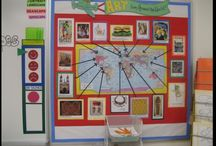 Art themed bulletin boards