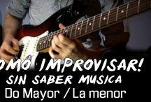 IMPROVISAR SIN SABER MUSICA CON GUITARRA