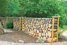 Dřevěné prvky v zahradě