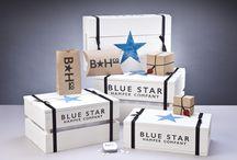 Blue Star Packaging / Packaging for Blue Star Hamper Company Hampers