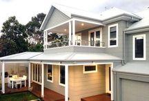 Double storey exterior paint