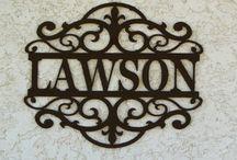 lasercut name