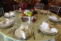 Tablescape Displays / Example tablescapes for your next event, located in our Party Store!
