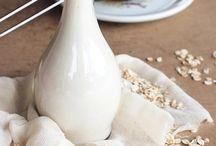 leite de aveia/ amêndoa