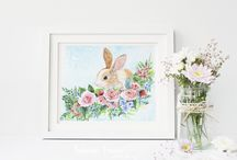 Bunnies / Little, cute, funny, curious bunnies Illustrations with bunnies bunnies art