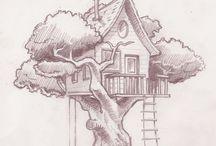 Tegning / Hus
