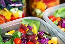 comida e saladas