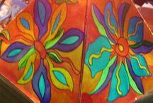 la mia pittura su vetro