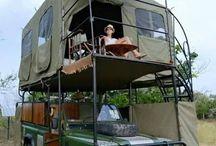 Auto caravan camping