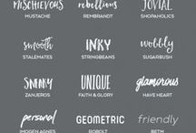 Lettering fonts and ideas