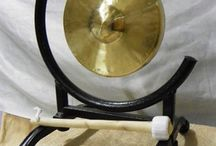 """6"""" to 10"""" Small Chinese Gong and Stand Combos / Some of our many Chinese gongs!"""