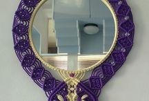 καθρέπτης με μακραμέ