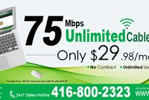 CanNet 75M Unlimited Internet Offer / CanNet will offer customers upto 75M unlimited cable internet at $29.98 for 1st year with wired cable modem rental $4.98/month in Rogers area.