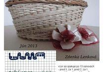 Pletení z papíru - vzory
