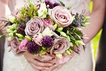 Plum wedding inspiration / Inspiration for plum wedding flowers