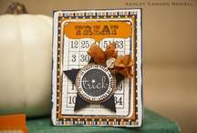 Halloween Card Ideas / Collection of Halloween hand made cards.  / by Lisa Fullerton