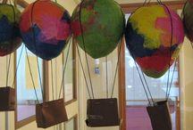 luchtballon / knutsel van papier maché