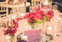 Rose Gold + Deep Plum Wedding / Rose gold sequin base was the perfect colour for this deep plum toned wedding. Limewash chairs, twinkling fairy lights added to the atmosphere of this beautiful style. Custom designed wedding stationery from menus, place cards, table numbers and deep rich plum and burgundy florals blended seamlessly with the colour palette . Thin gold rimmed glass charger plates with crimson pintuck napkins, added that extra elegant statement. youtube:https://www.youtube.com/watch?v=8RzKwXk2npg&feature=youtu.be