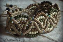 Bracelet micromacrame, bransoletki makramowe / http://makramik.blogspot.com Makrama, biżuteria, ozdoby ze sznurka Makrama, macrame, micro-macrame, bracelet, bransoletki