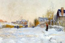 pitture neve monet