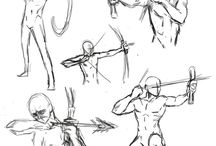Art reference and tutorials - archers and bows