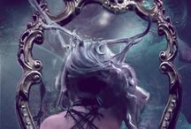 Imagine / Beauty, gothic, victorian, fairy tales, Lady of the Lake, El, Silver Hair, Underwater, Forest, Styling, Photoshop, Native American, Amazon Warriors