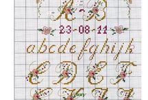 haft krzyżykowy litery