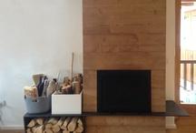 interior design / #mountain #fireplace #wood frame #interior design monutain #aosta