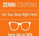 Zenni Optical Coupon Codes 2017: Get 50% OFF Promo Code / Receive up to 50% discount with Zenni Optical Coupon Codes 2017 or Promo Code at Promo-code-land.com. Zenni optical is an online retailer offer to their customers eyeglasses, sunglasses and a variety of eyewear of different colors, styles, shapes and material for men and women. Eyeglasses are definitely a personal fashion and style item, and to that end they strive to provide a fashionable and stylish product. Their customer really like their options and discount on glasses and lenses.