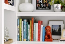 Bookcase styling / by Kate Mitchell