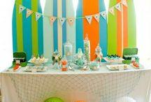 Surf {Fiestas Temáticas} / Ideas para organizar una fiesta de surf / by My Little Party Fiestas con Estilo