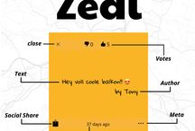 Zedl App - Screenshots / Screenshots from the Zedl App by Byrds & Bytes