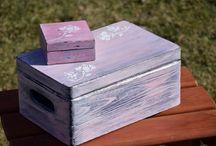 Rustic wedding box