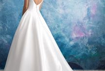 Plunging Neckline Wedding Gowns