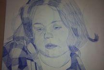 Retratos / Realizados a bolígrafo y por puntos