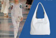Sandy White Italian Leather Hobo